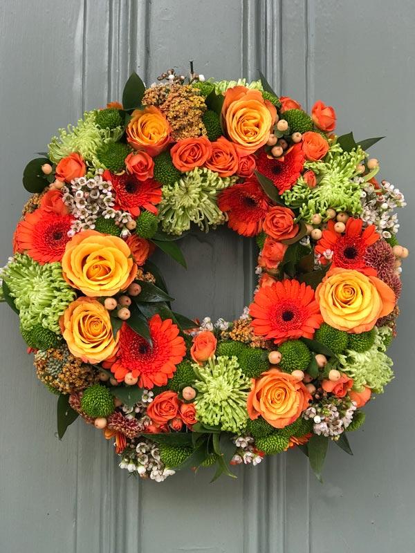 Bespoke-Wreaths-Autumn-Orange-LimeGreen