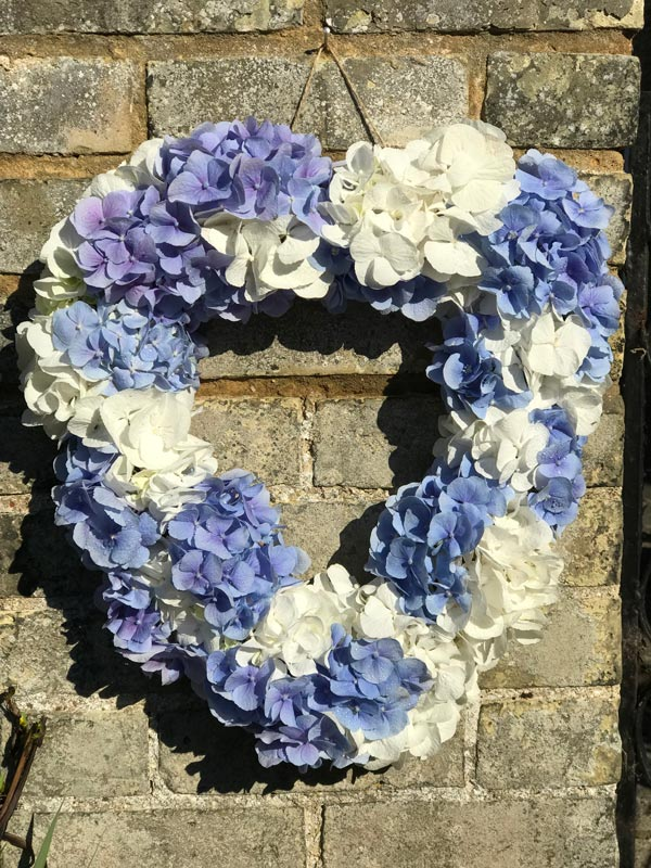 Bespoke-Wreaths-Blue-Hydrangea-Heart