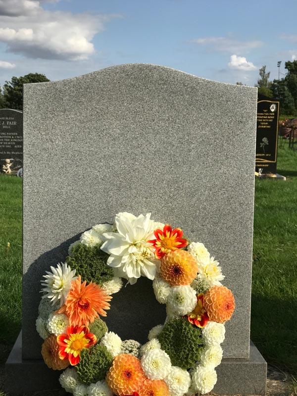 Bespoke-Wreaths-Orange-and-White-Dahlias
