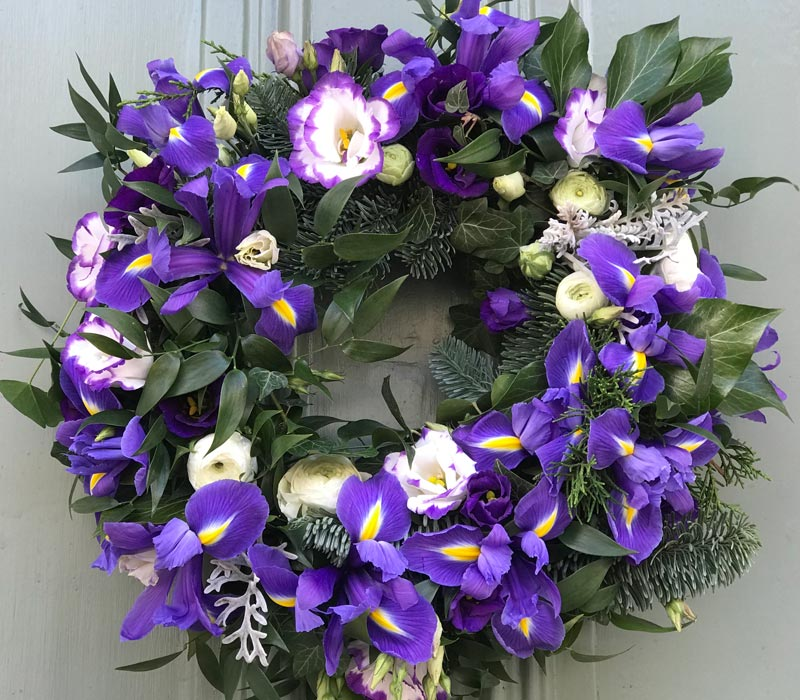 Bespoke-Wreaths-Spring-Purple