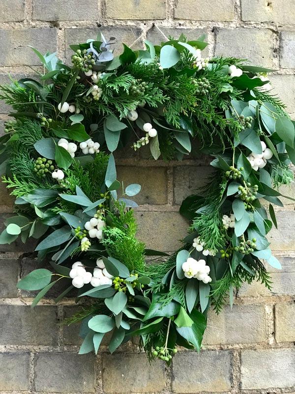 Standard-Wreaths-Autumn-Greenery-Snowberries